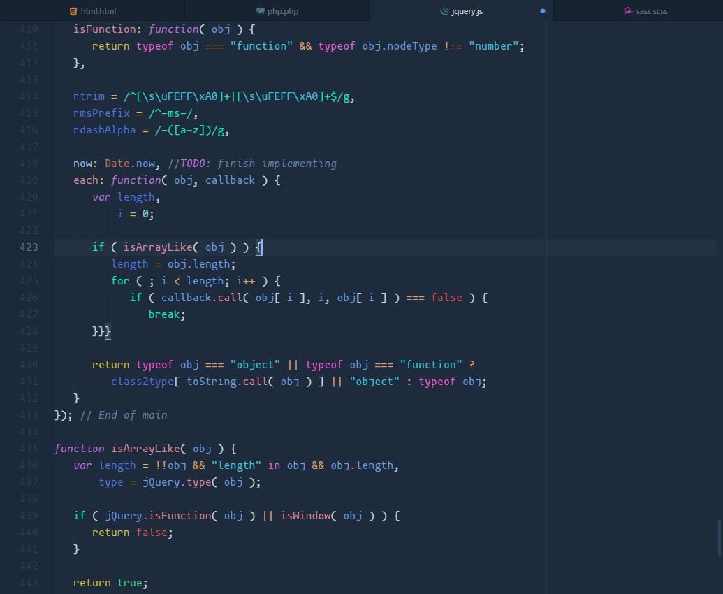 quietude-syntax js