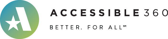 Accessible360 logo with tagline Better. For All.