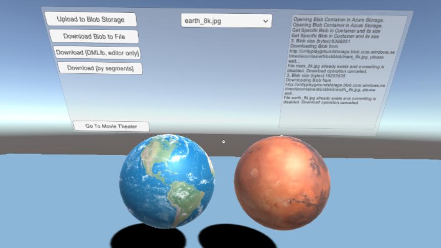 Azure Storage Demo Unity3D - UnityList