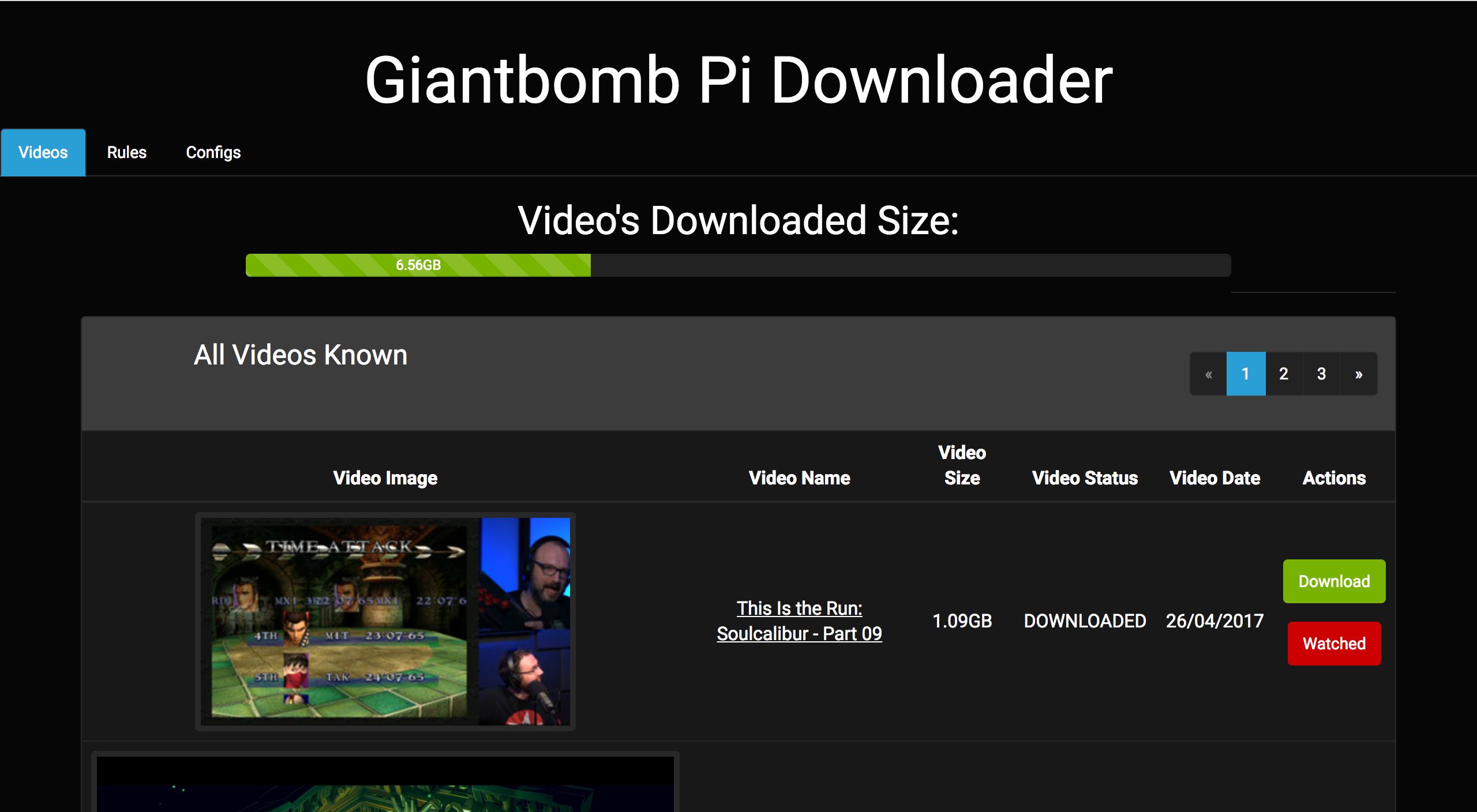 Giantbomb Pi Downloader Front Page