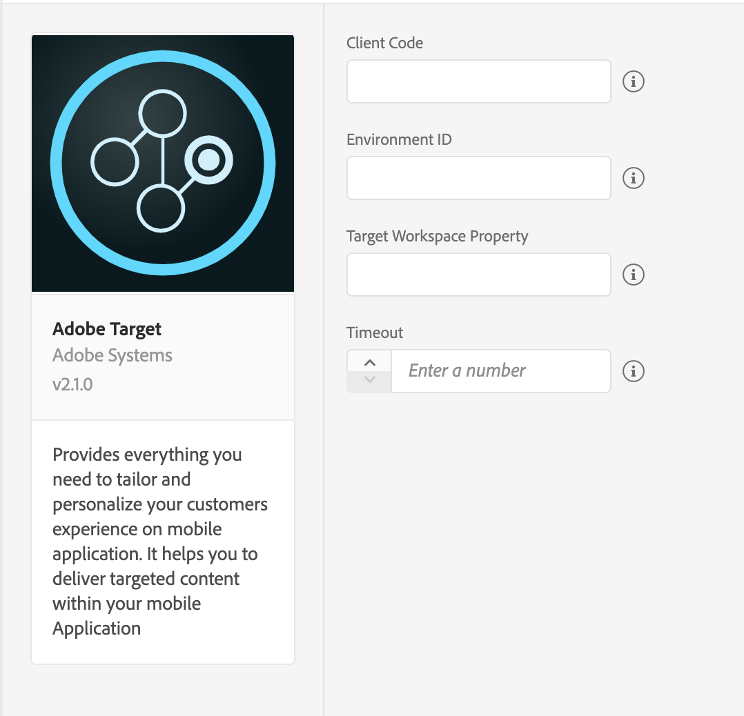 Adobe Target Extension Configuration
