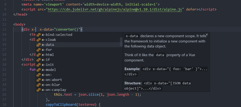 Screenshot - Directives