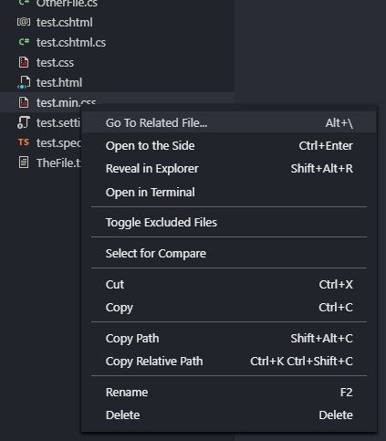 Context Menu Option