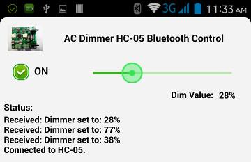 HC-05 Bluetooth Control via Android App