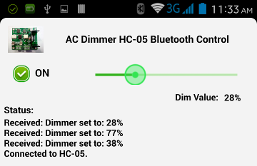 HC-05 Bluetooth Control via Android App