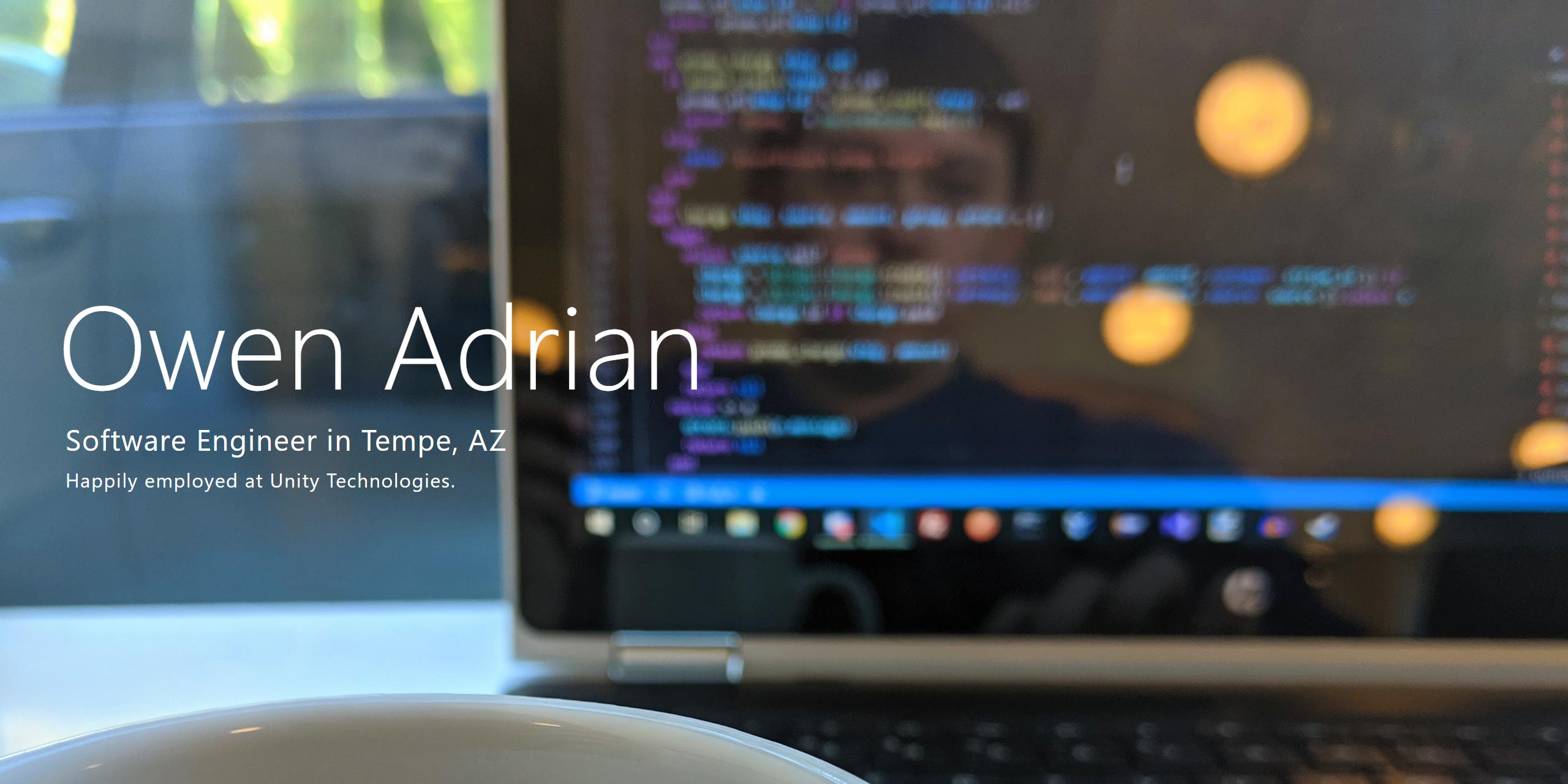 Hi, I'm Owen Adrian, I've been developing web apps in Rails since 2014