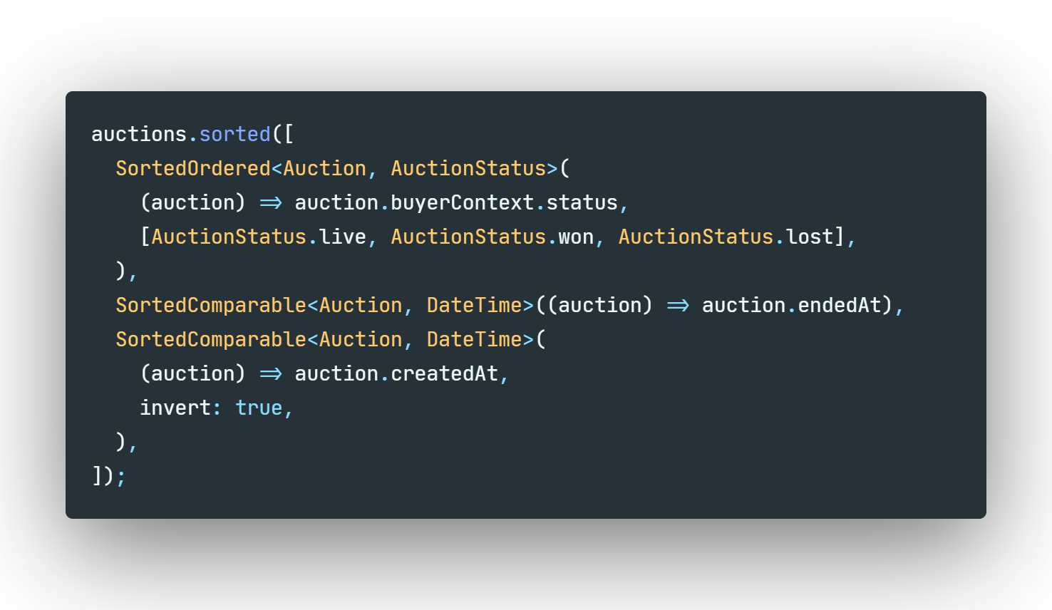 Beautiful code example