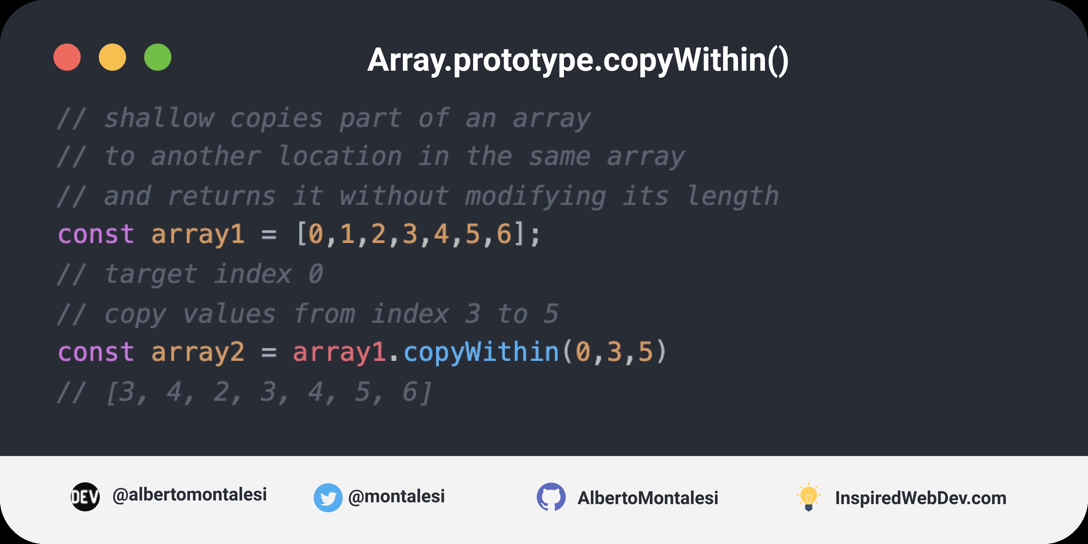 Array.prototype.copyWithin()