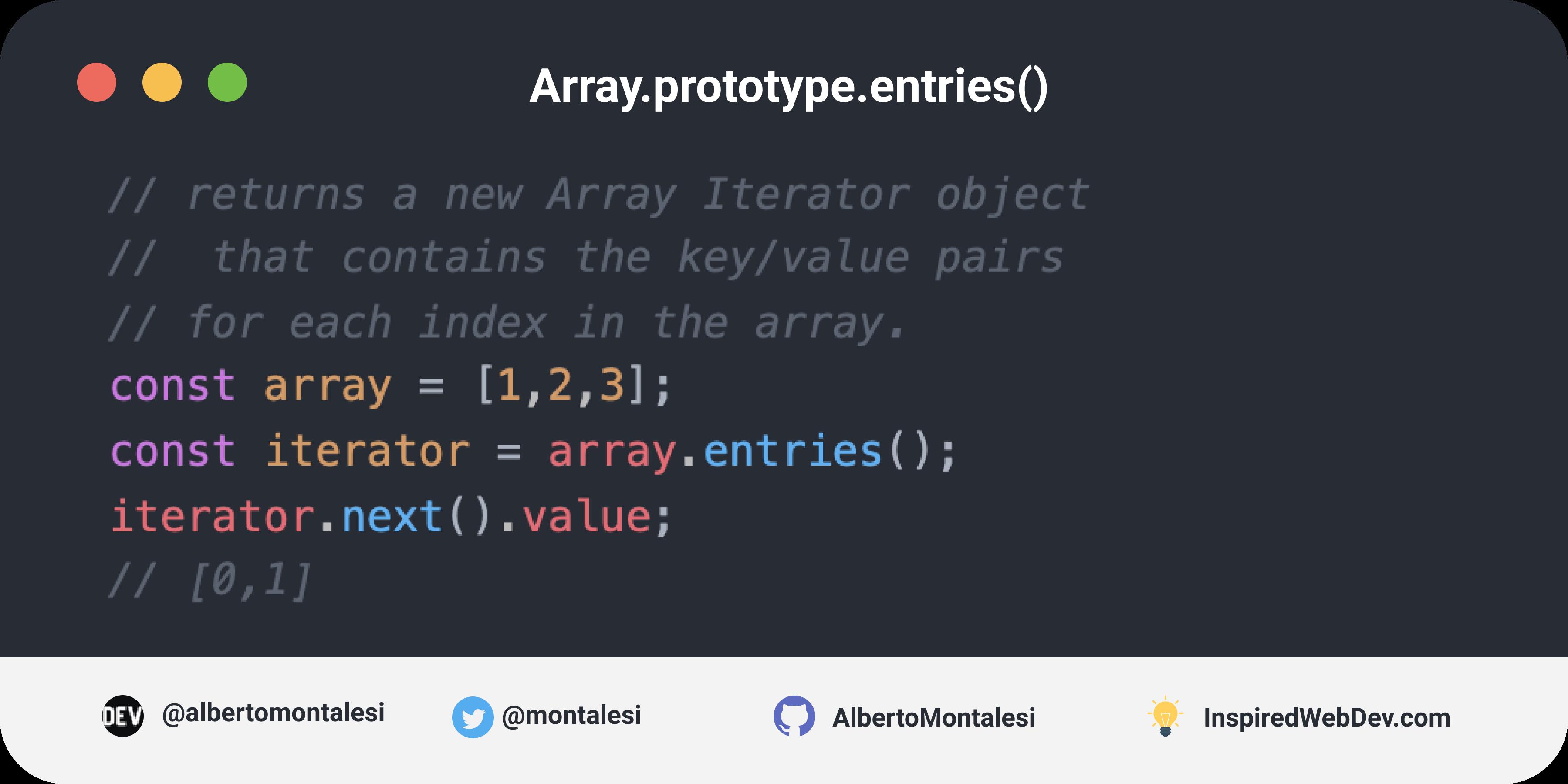 Array.prototype.entries()