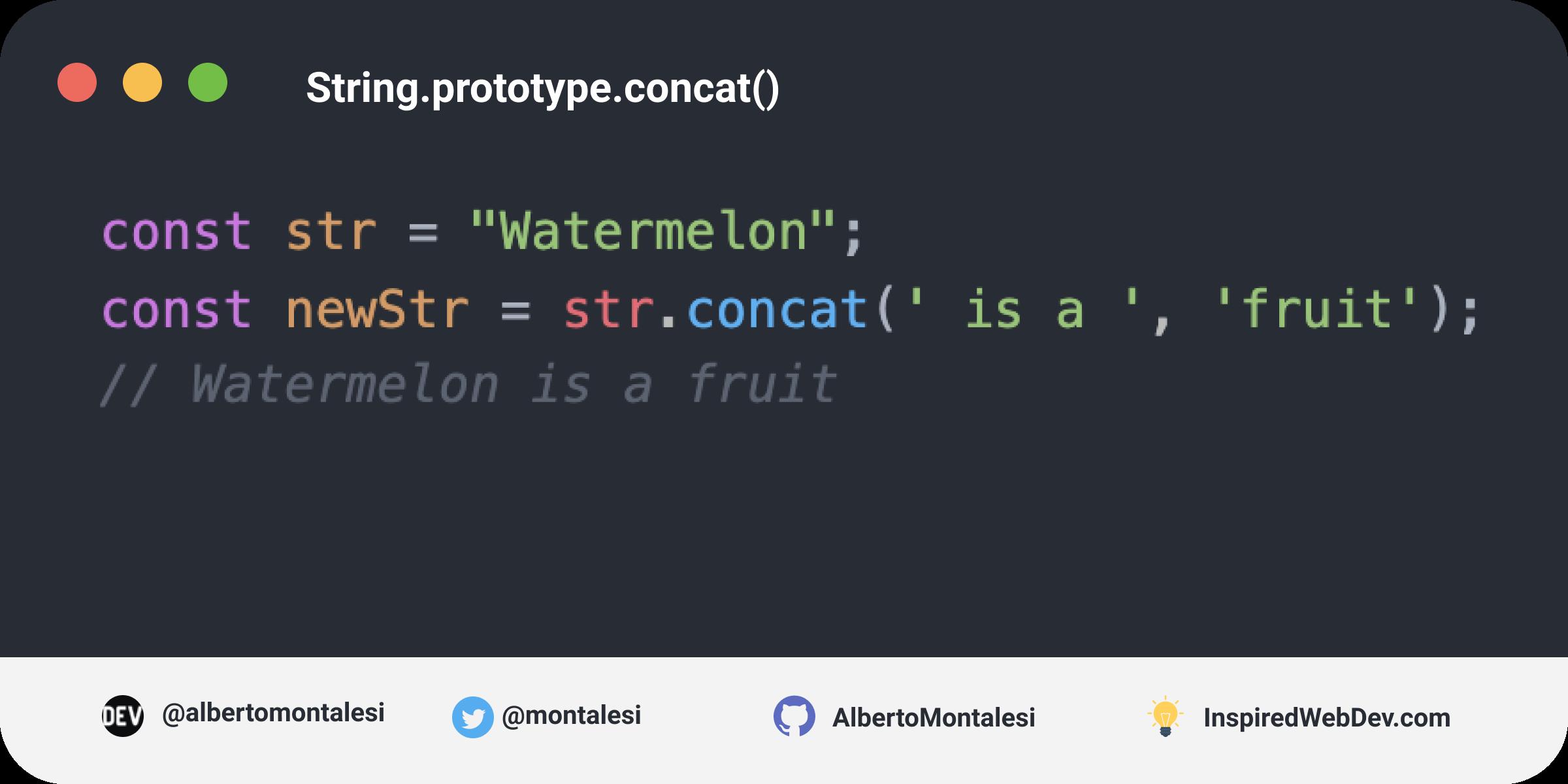 String.prototype.concat()