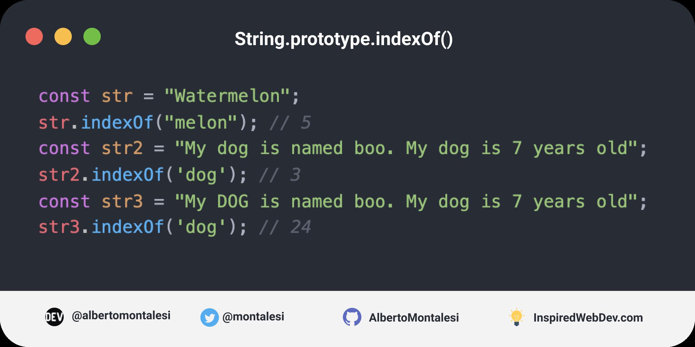 String.prototype.indexOf()