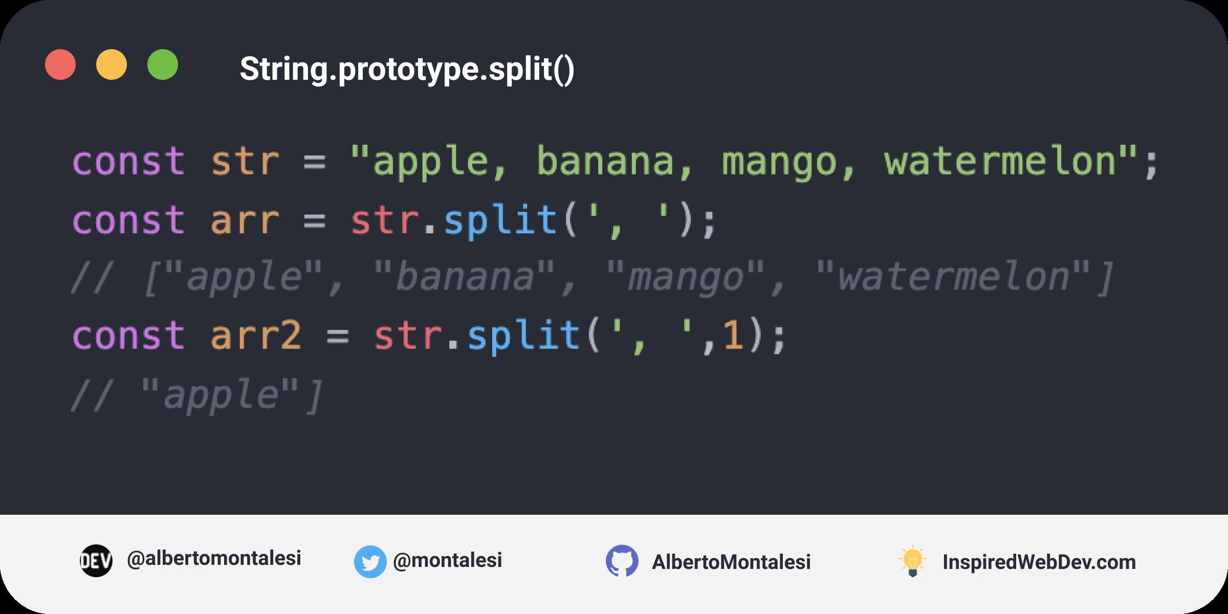 String.prototype.split()