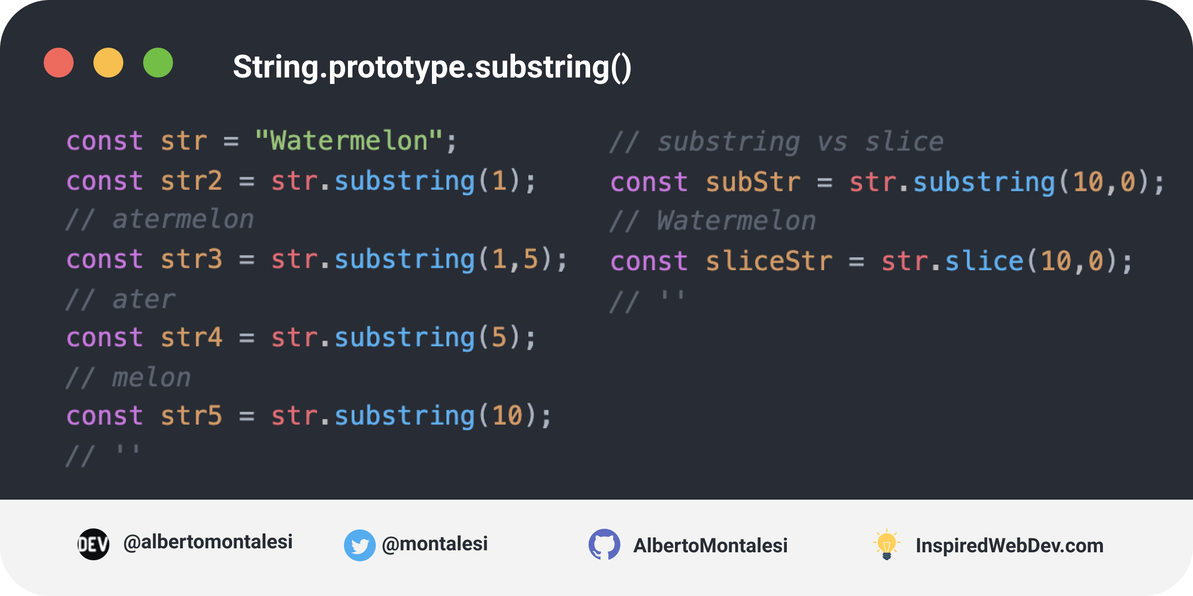 String.prototype.substring()