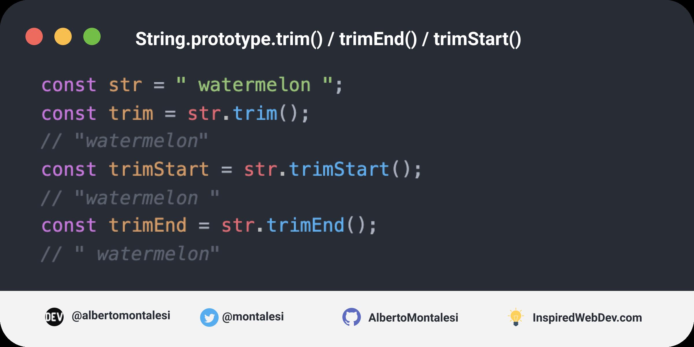 String.prototype.trim()