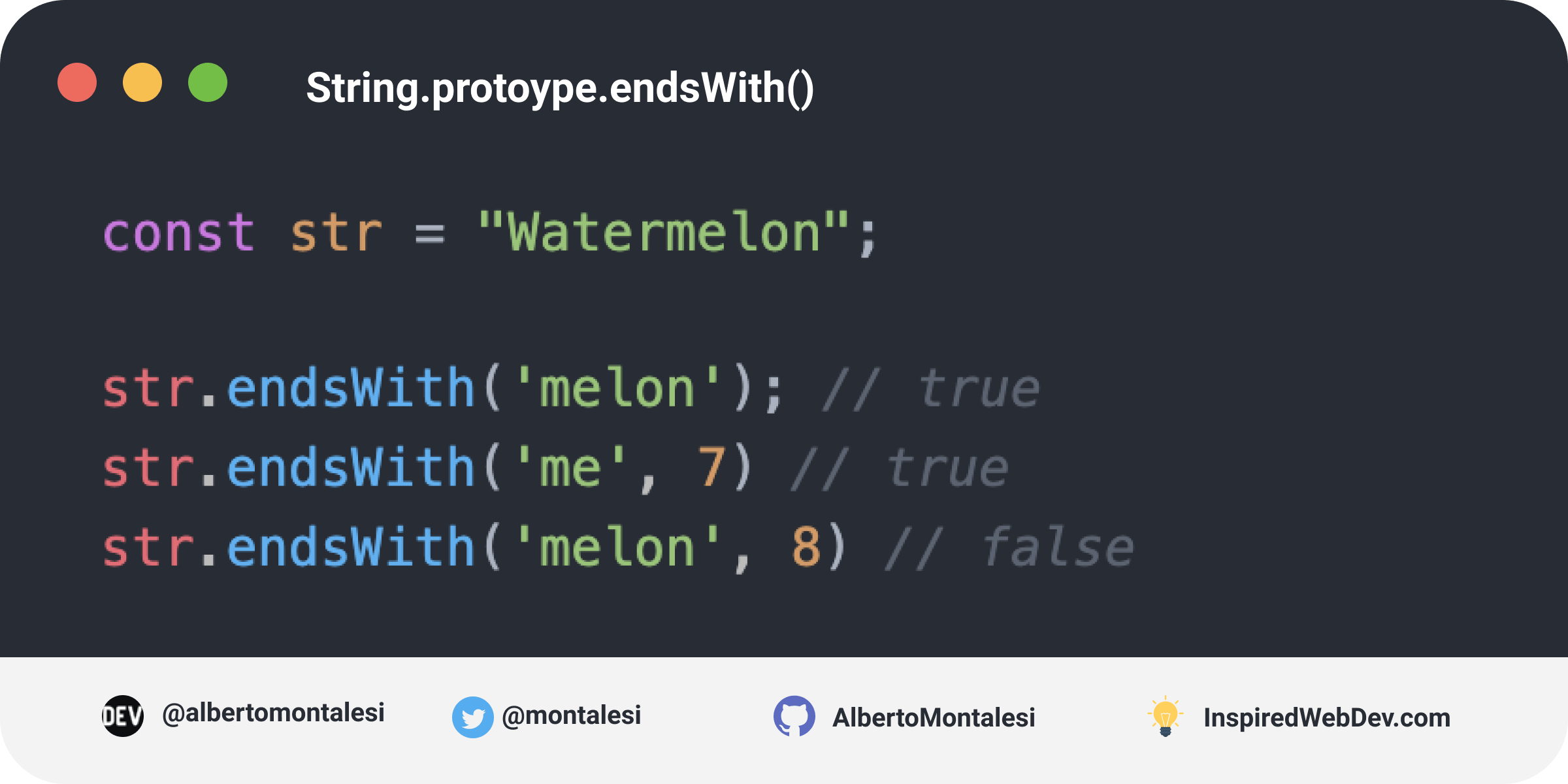 String.prototype.endsWith()