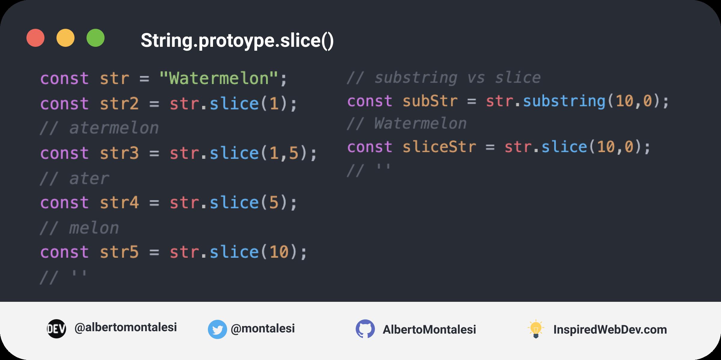 String.prototype.slice()