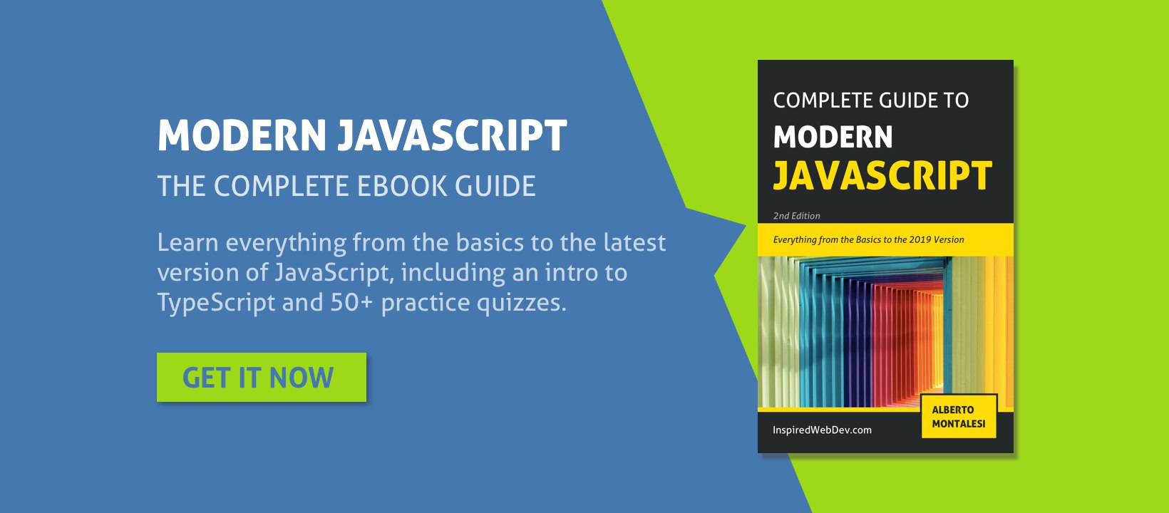 complete guide to modern javascript alberto montalesi ebook banner
