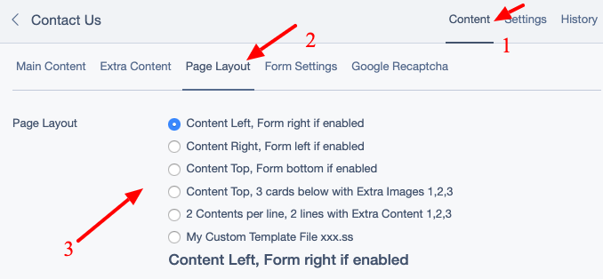 Choose custom page layout