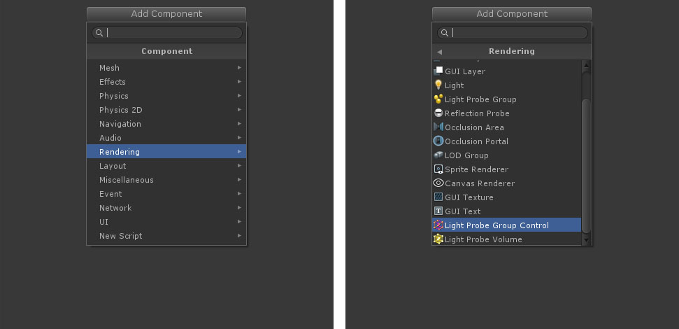 Add Light Group Control component