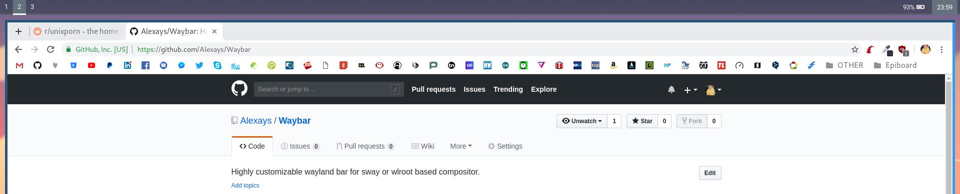 Waybar v0.0.0