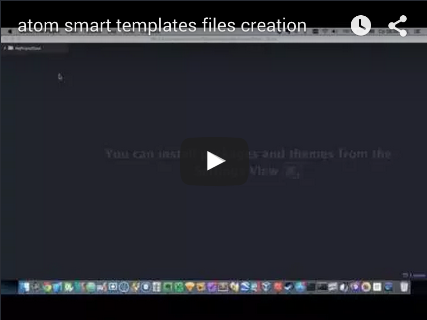 Atom Smart Template