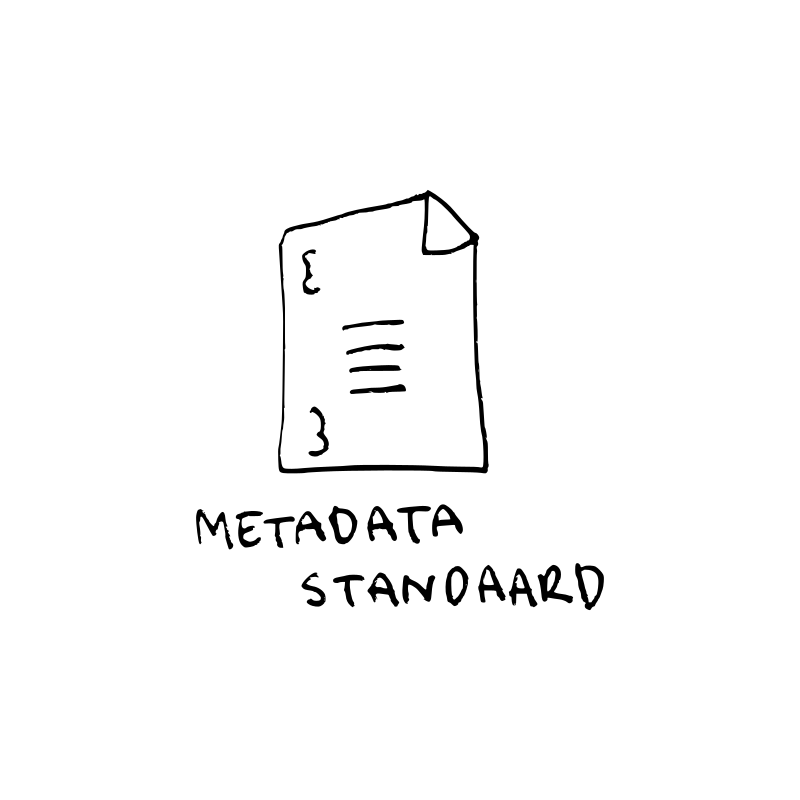 Metadata standaard illustratie