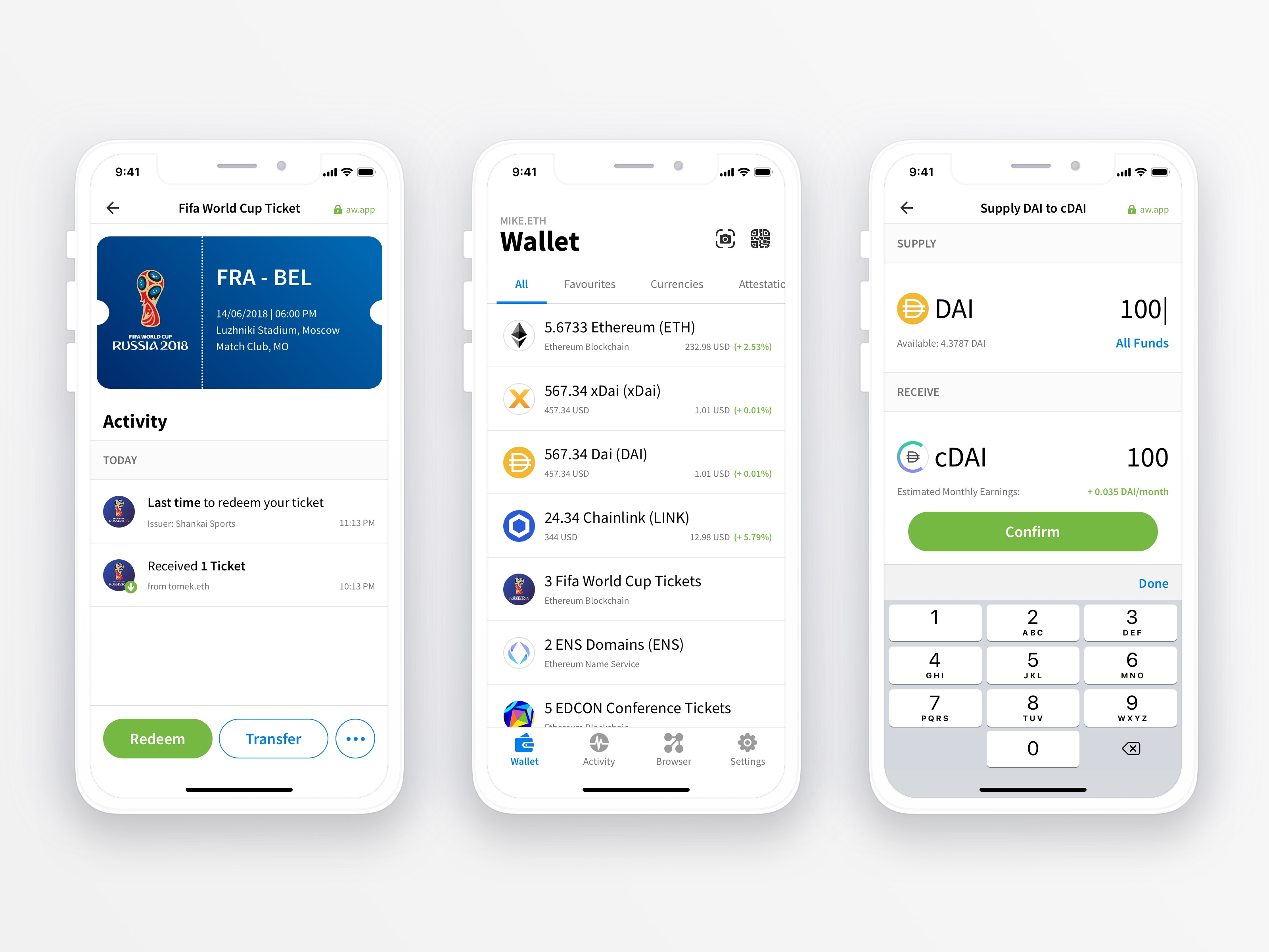 alphawallet open source wallet ios preview