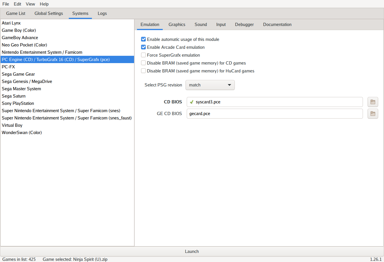 Mednaffe on Linux/GTK 3