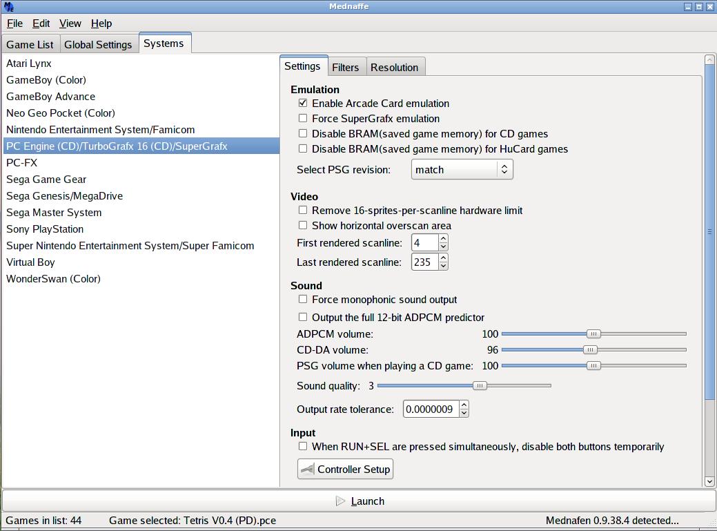 Mednaffe on Linux/GTK+2