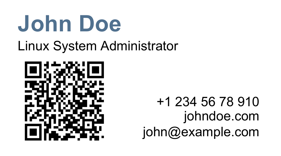 GitHub - Amet13/business-card: Simple business card created by LaTeX ...