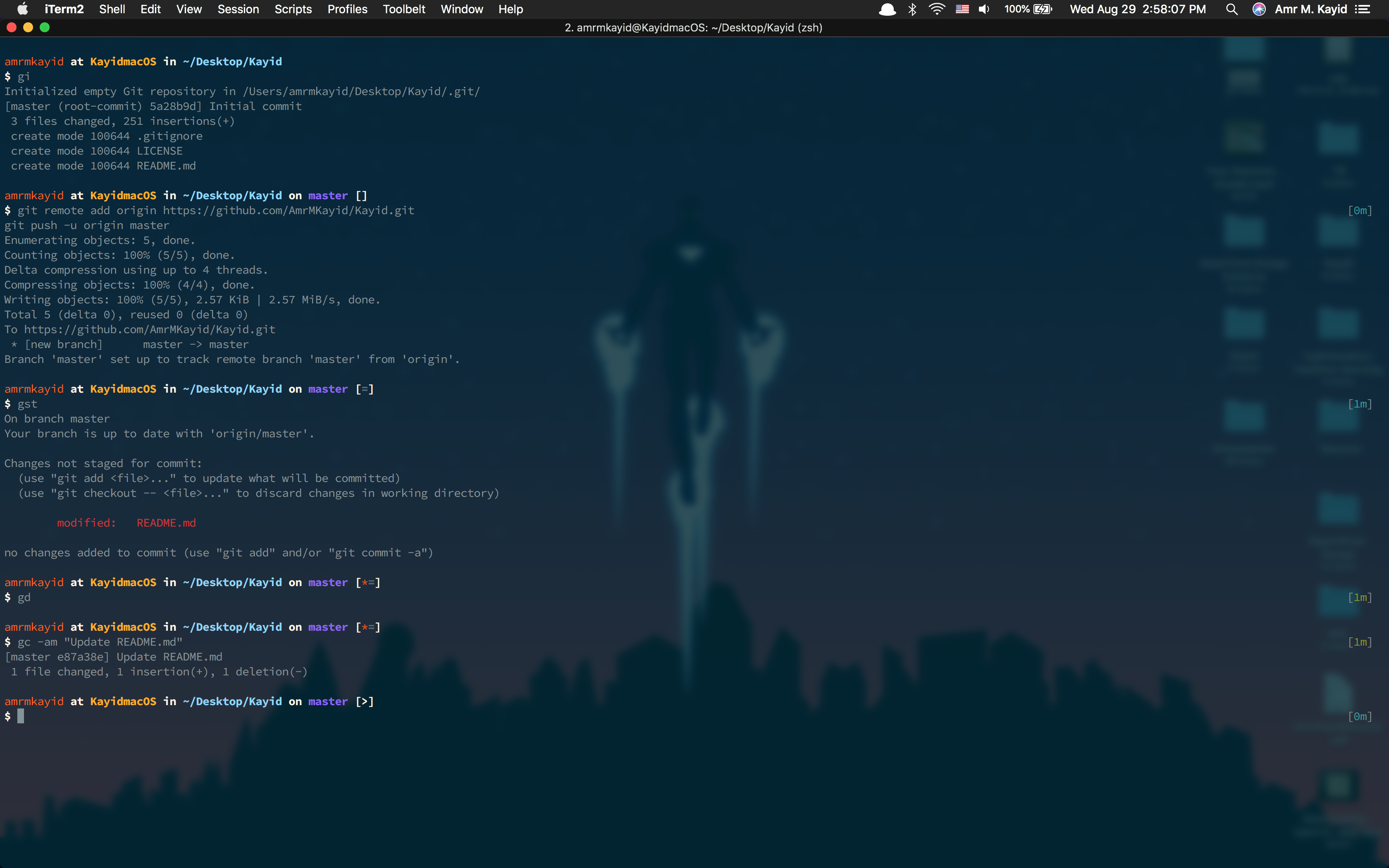 Kayid Theme for ZSH