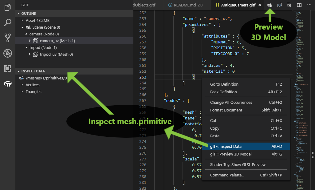 Inspect Mesh Primitive