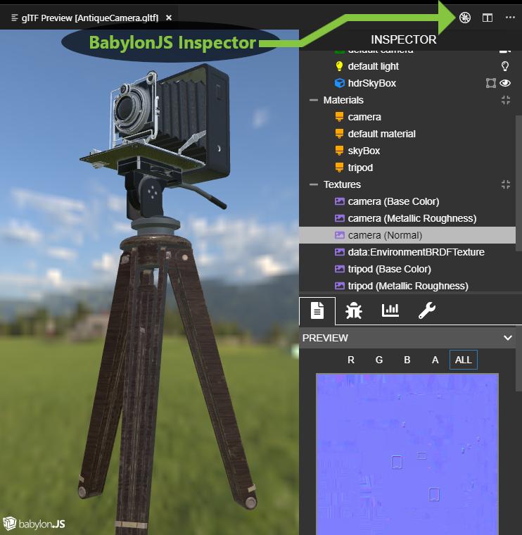 BabylonJS Inspector