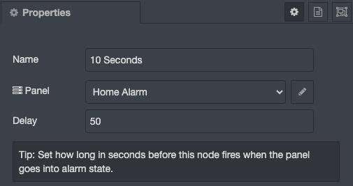 50 Second Delay Configuration