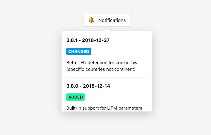 Screenshot of Changebar