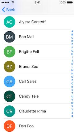 AGCInitials Example screenshot 2