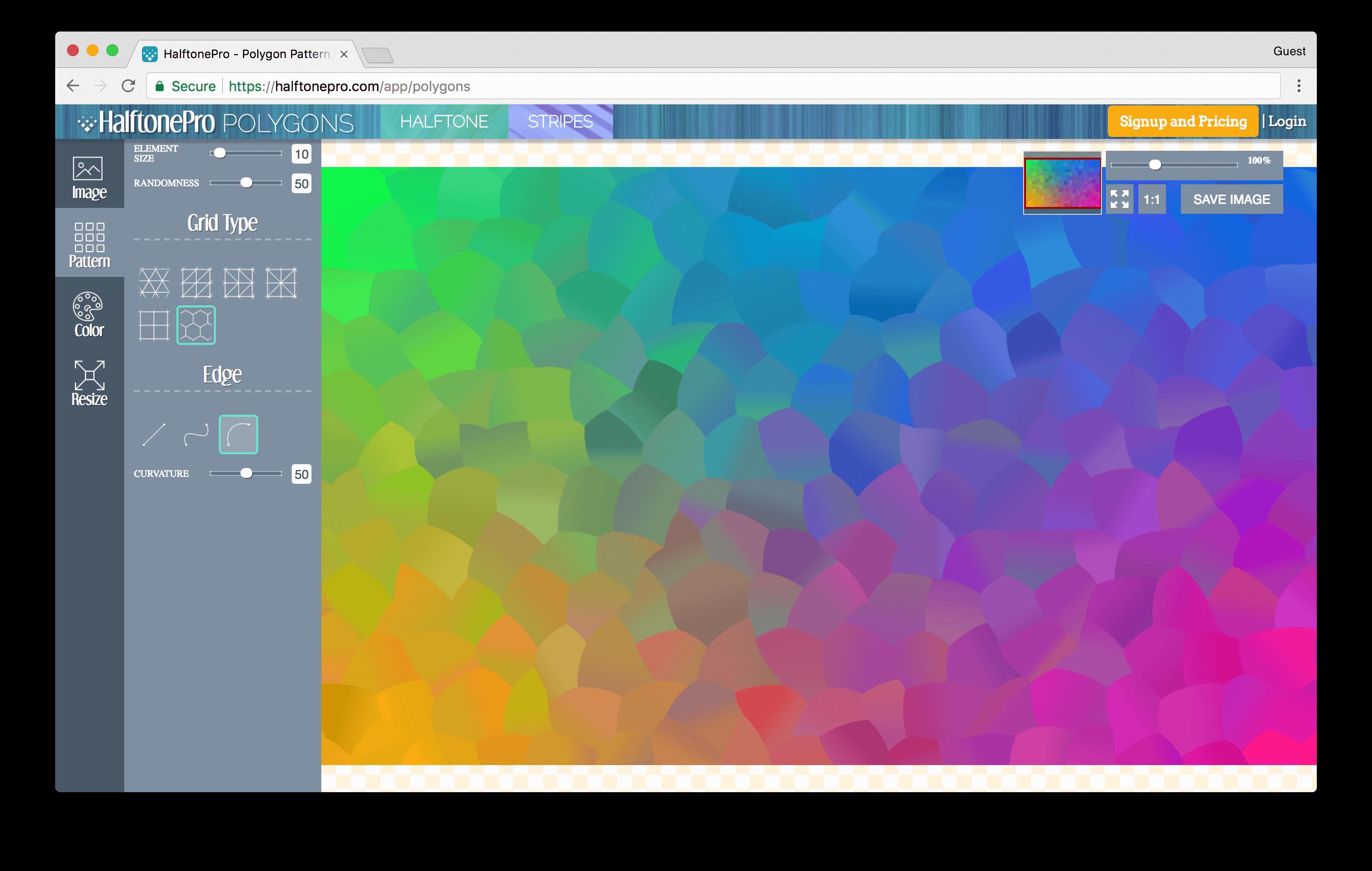 halftonepro.com/app/polygons