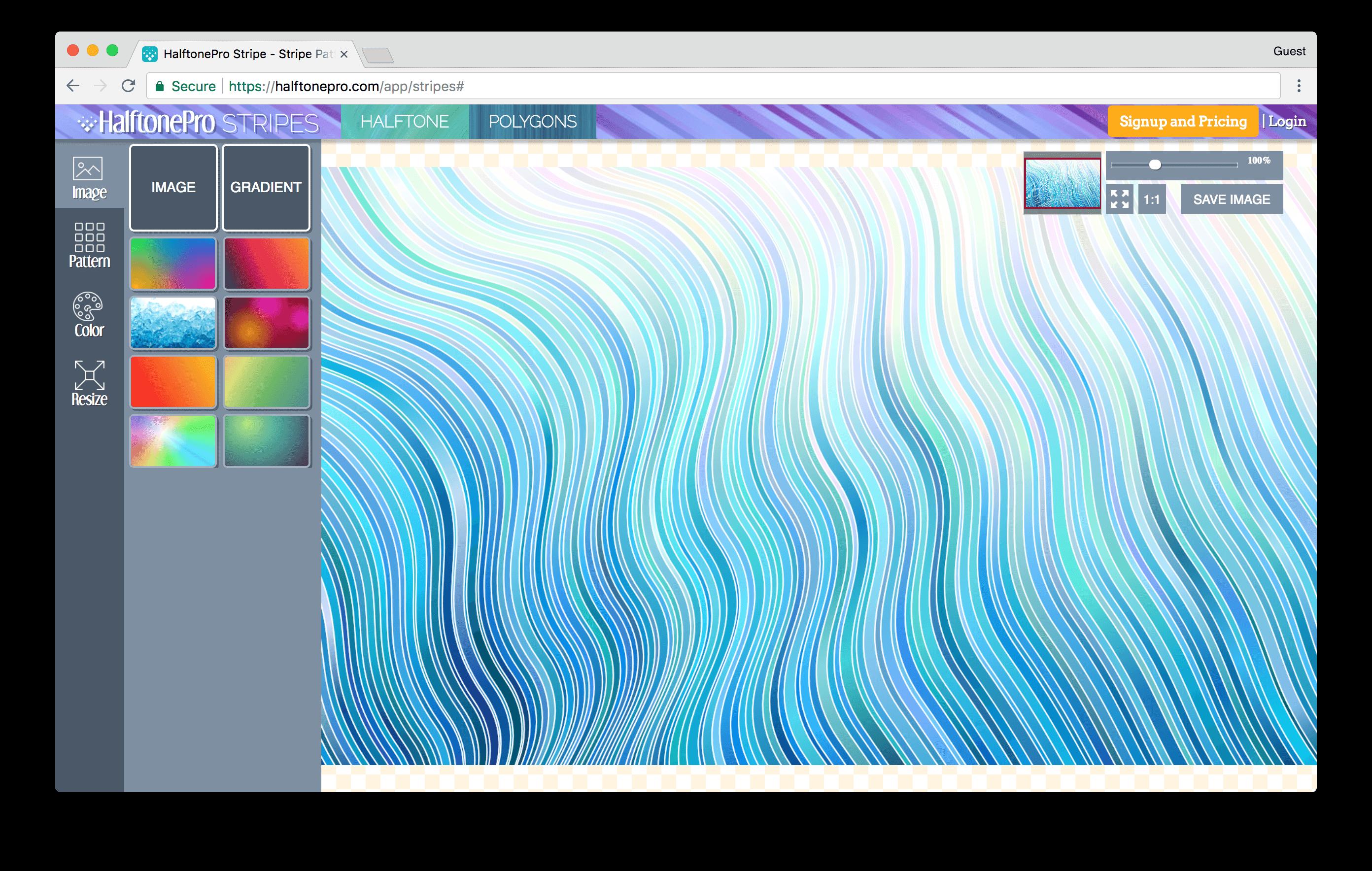 halftonepro.com/app/stripes