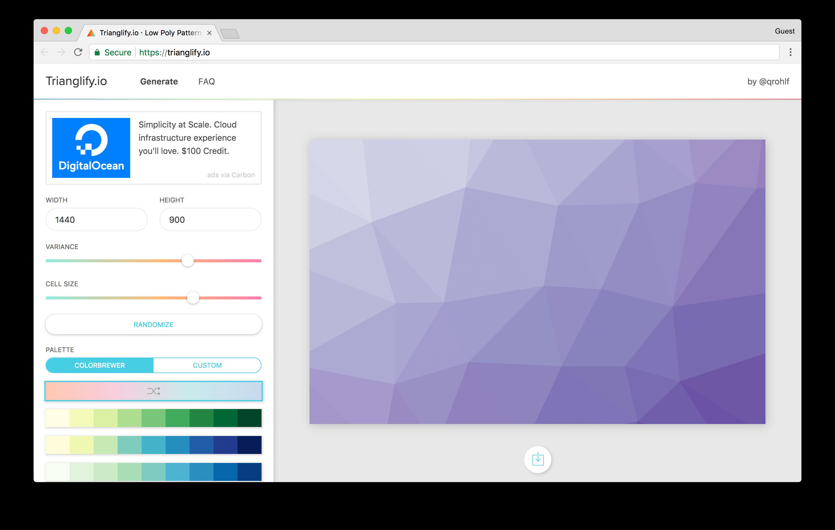 qrohlf.com/trianglify-generator