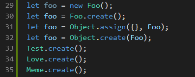 Foo.create Highlighting