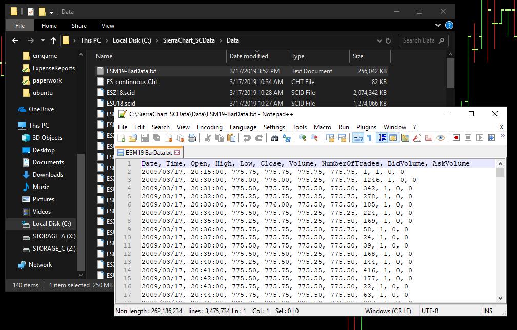 Continuous Futures Data in Zorro 1: Data Acquisition