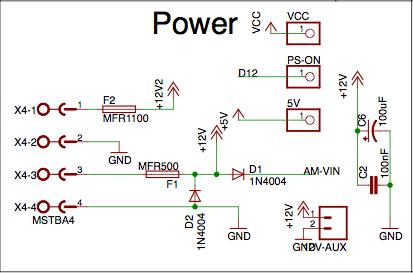 Ramps 1.4 schematics Power section