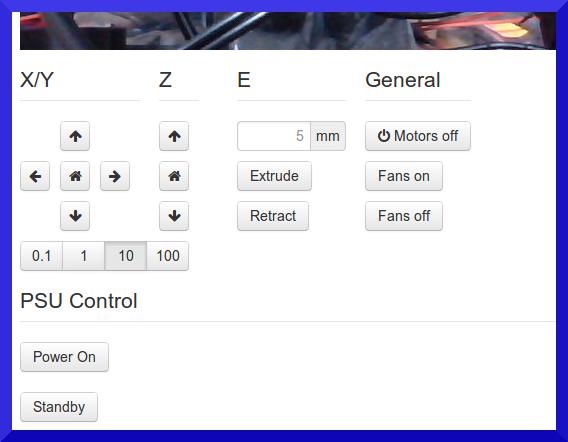 Control tab with ATX PSU Power Control options