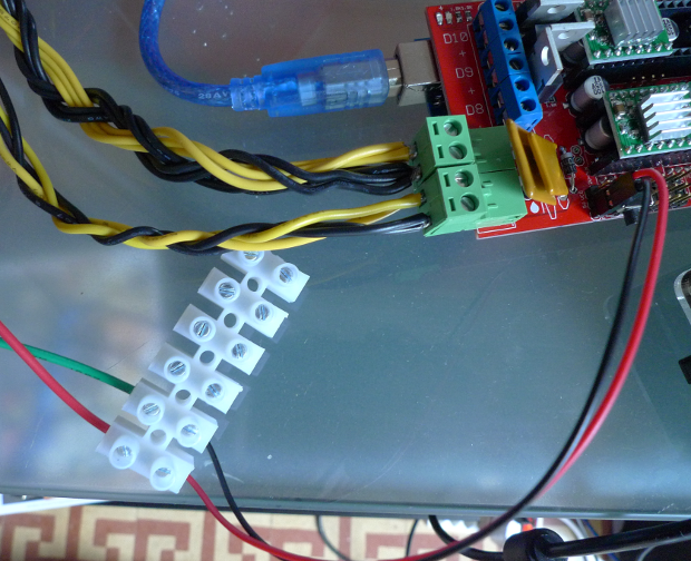 Using a terminal block strip to connect RAMPS and ATX PSU
