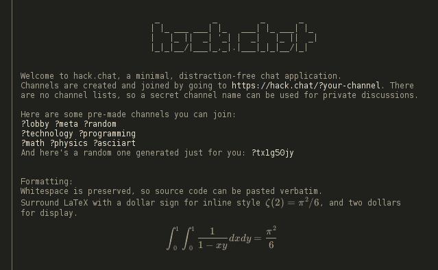 hack.chat screenshot