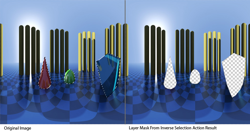 Layer Mask From Inverse Selection Example 1