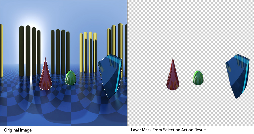Layer Mask From Selection Example 1