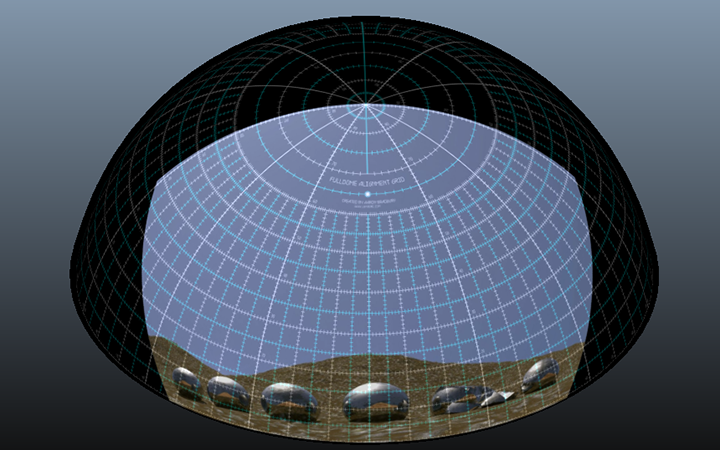 This is the 1080p to dome conversion in a fulldome simulator.