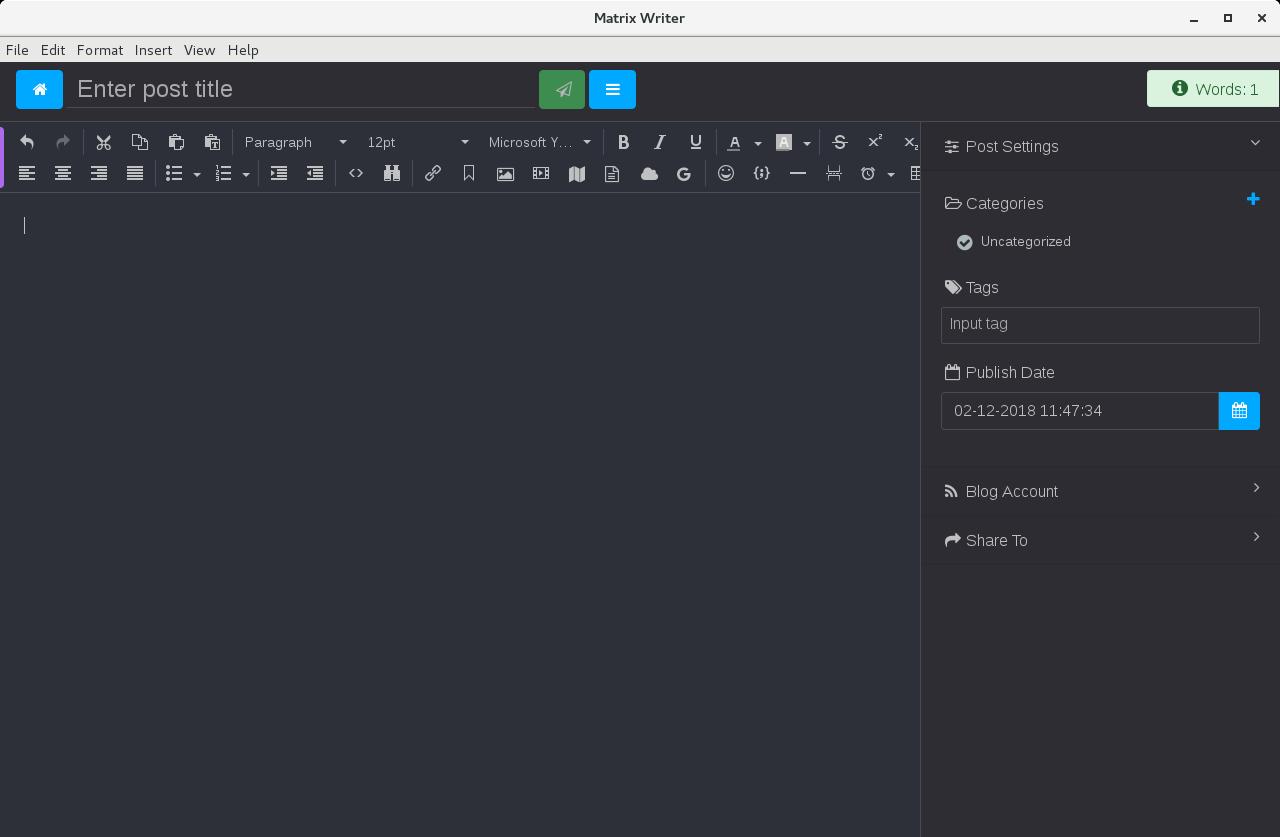 Writer editor on CentOS