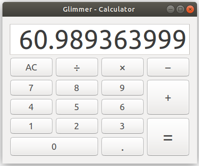 Glimmer Calculator Linux